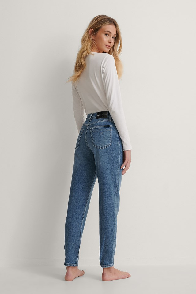 Mid Blue CK Mom Jeans