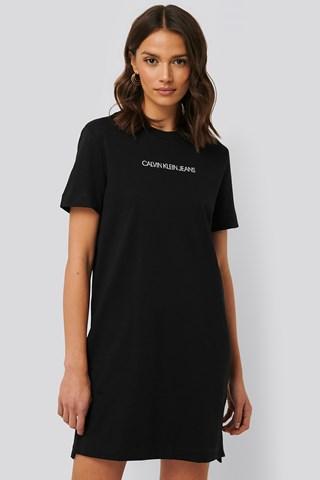 CK Black Institutional T-shirt Dress