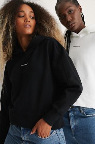 CK Black Micro Branding Hoodie