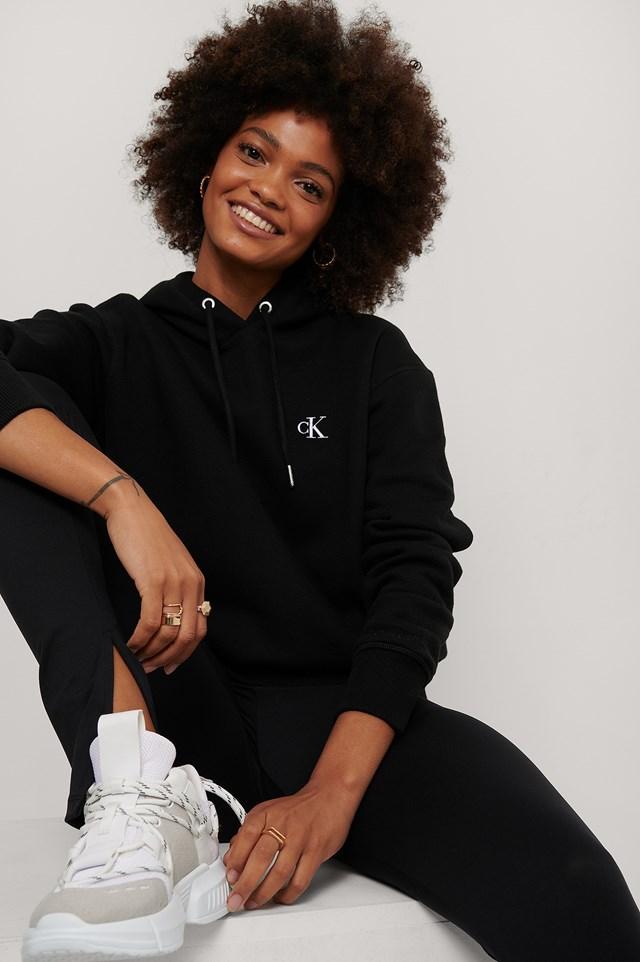 Embroidery Hoodie CK Black