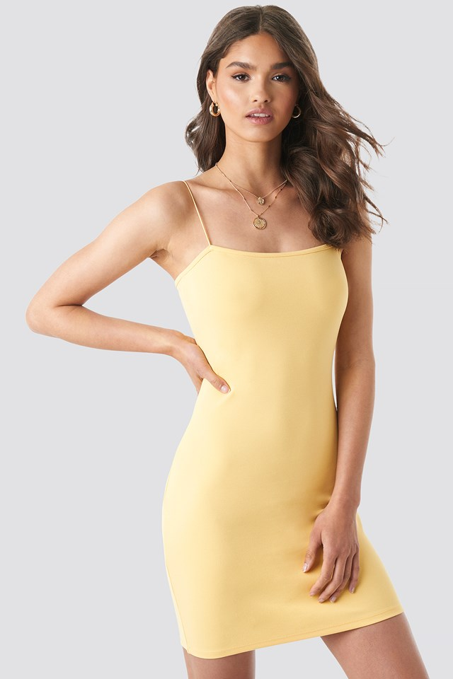 Basic Bodycon Dress Yellow