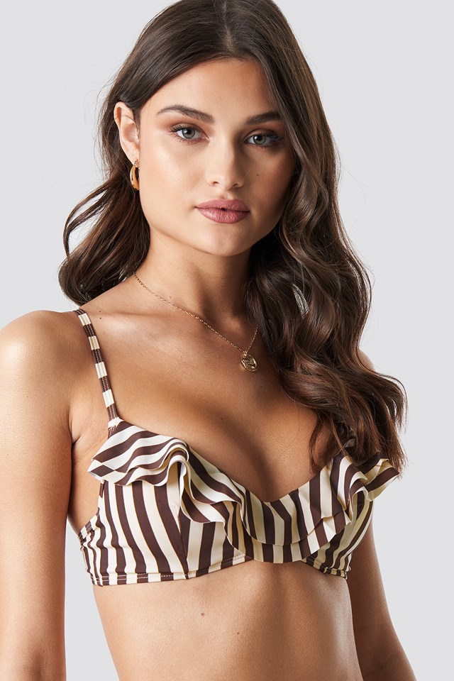 Striped Cup Bikini Top Stripe