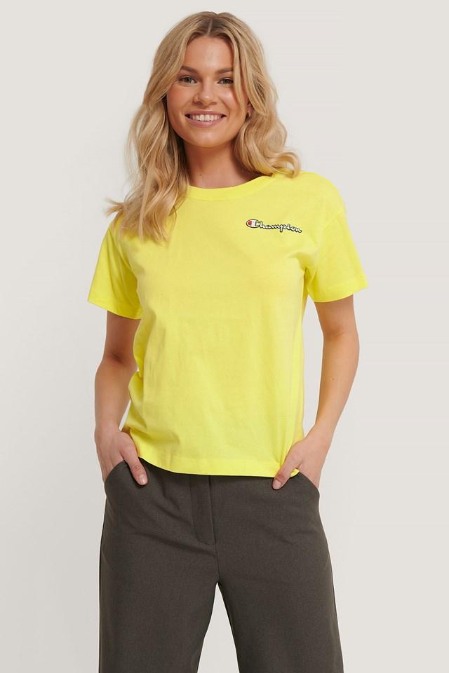 Logo Crewneck T-Shirt Lime Light