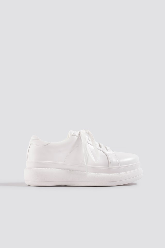 High Sole Sneakers White