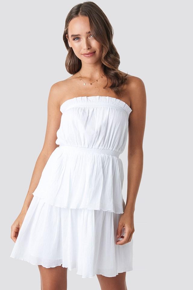 Strapless Mini Dress White