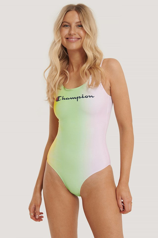 Logo Swimming Suit Lime Light