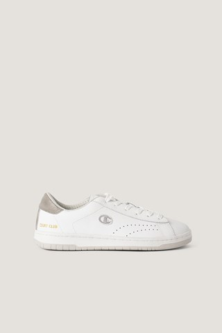White/Silver Low Cut Sneakers Court Club