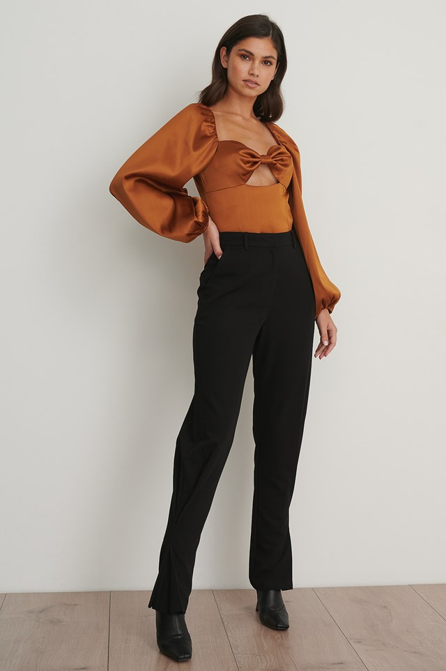 Slim Ankle Suit Pants Black