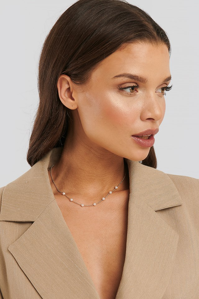 Christina Dueholm Pearl Necklace Gold