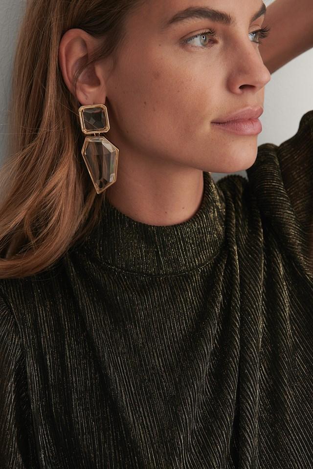 Chunky Transparent Earrings Transparent
