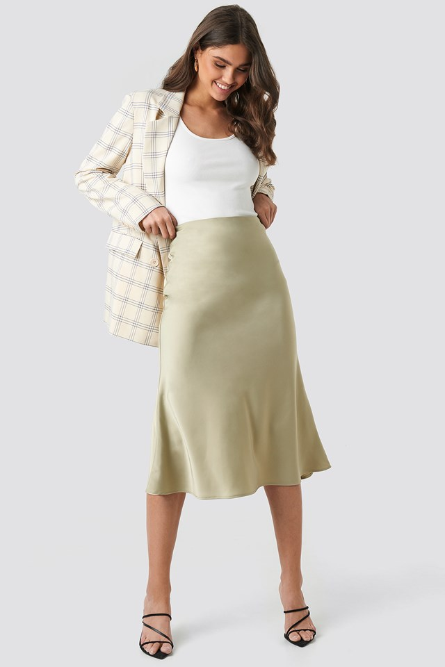 Satin Skirt NA-KD Classic