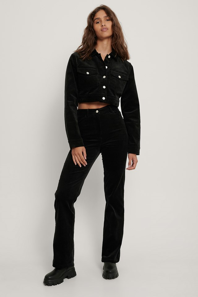 Cord Trousers Black