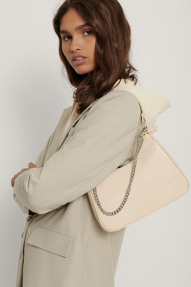 Nylon Baguette Bag Sand