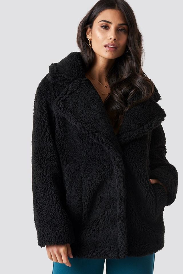 Soft Teddy Jacket Black