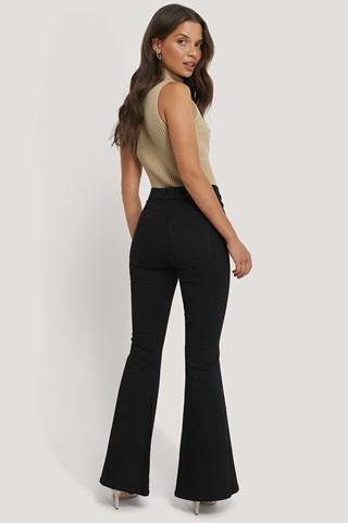 Black Macy Flared Jeans