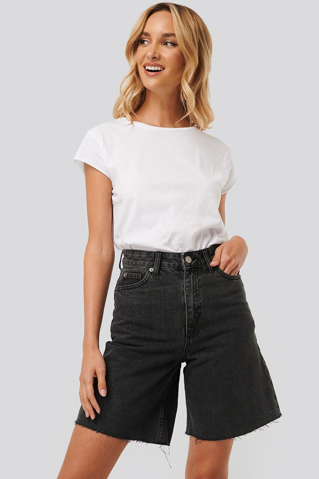 Maja Denim Shorts Retro Black