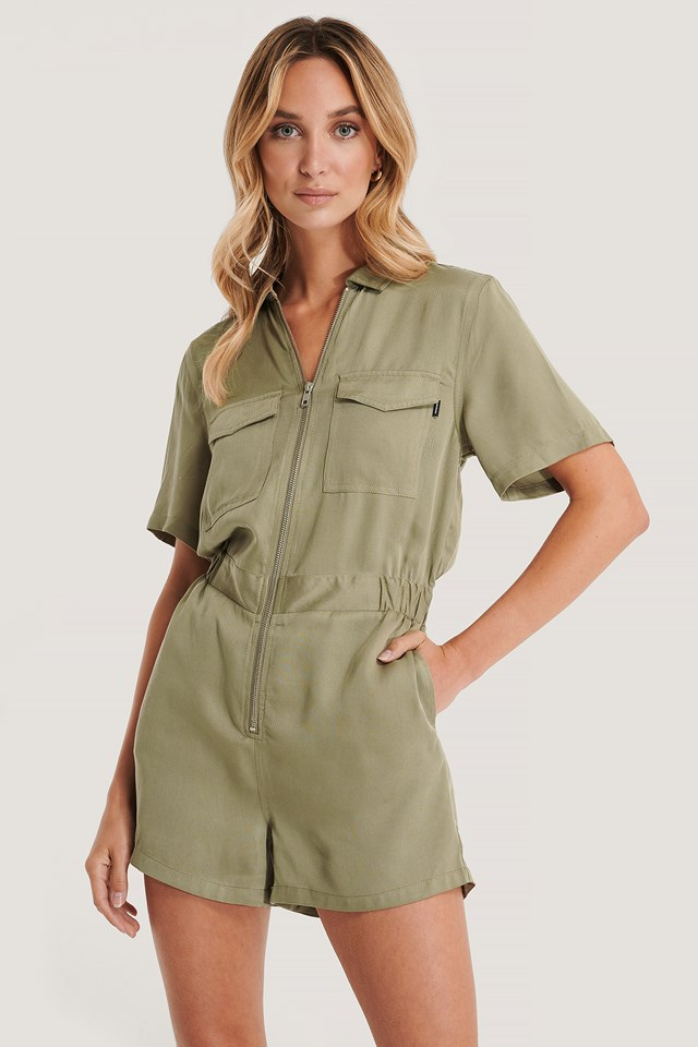 Montana Playsuit Green Agate