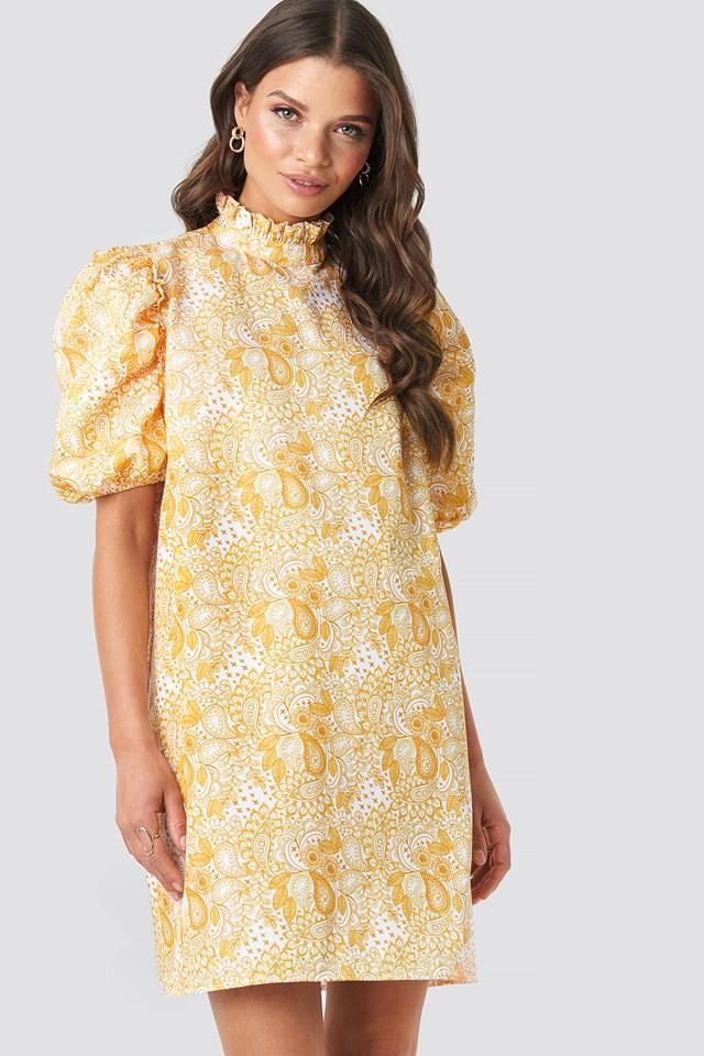 Puff Sleeve Mini Dress Emilie Briting x NA-KD