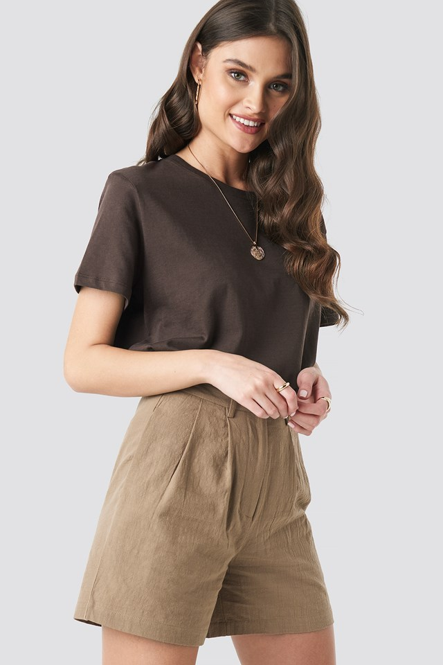 Linen Look Oversized Shorts NA-KD Trend