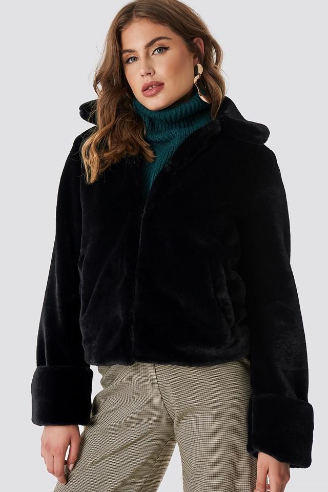 Short Faux Fur Jacket NA-KD Trend