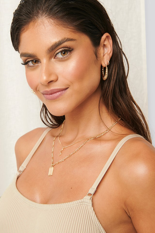 2-pack Necklaces Gold