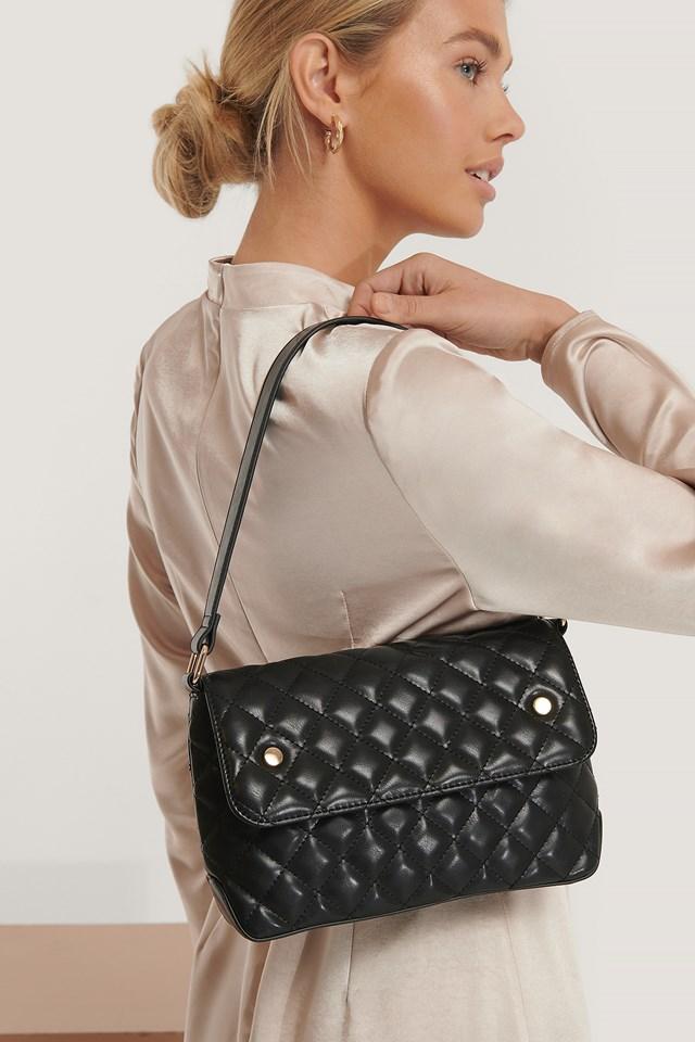 Quilted Shoulder Bag Black