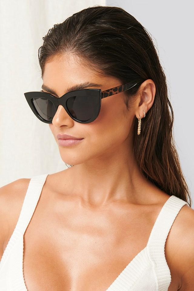Tortoise Detail Sunglasses Black Tortoise