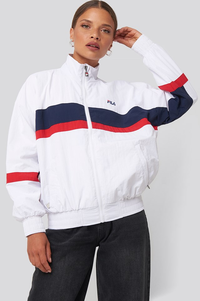 Kaya Wind Jacket Bright White/Black Iris