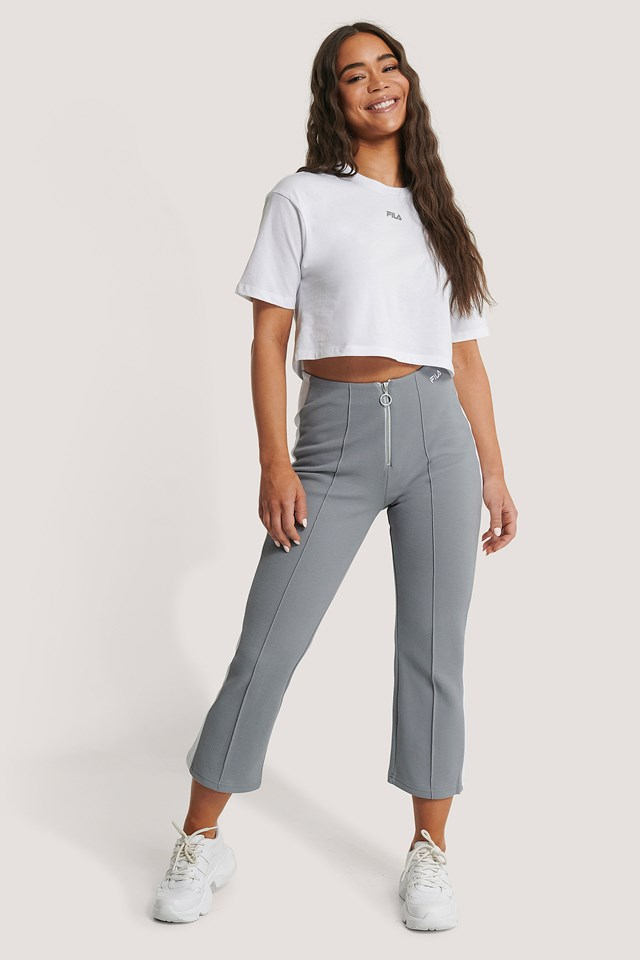 Mabli Cropped Pants Monument Bright White