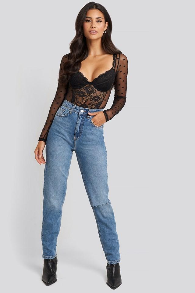 High Rise Straight Cut Jeans Gerda x NA-KD