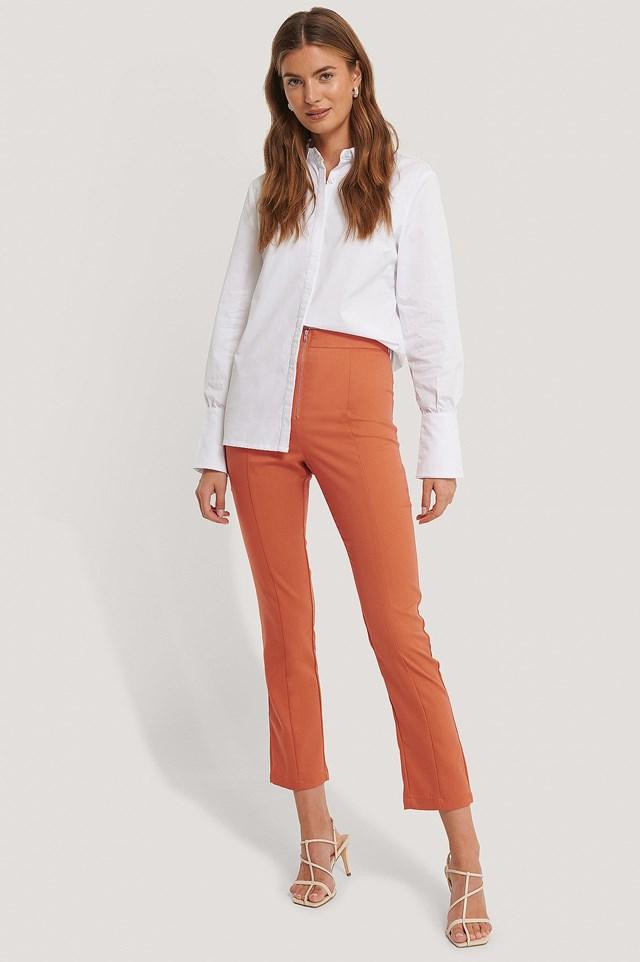 Rust Back Slit Trousers