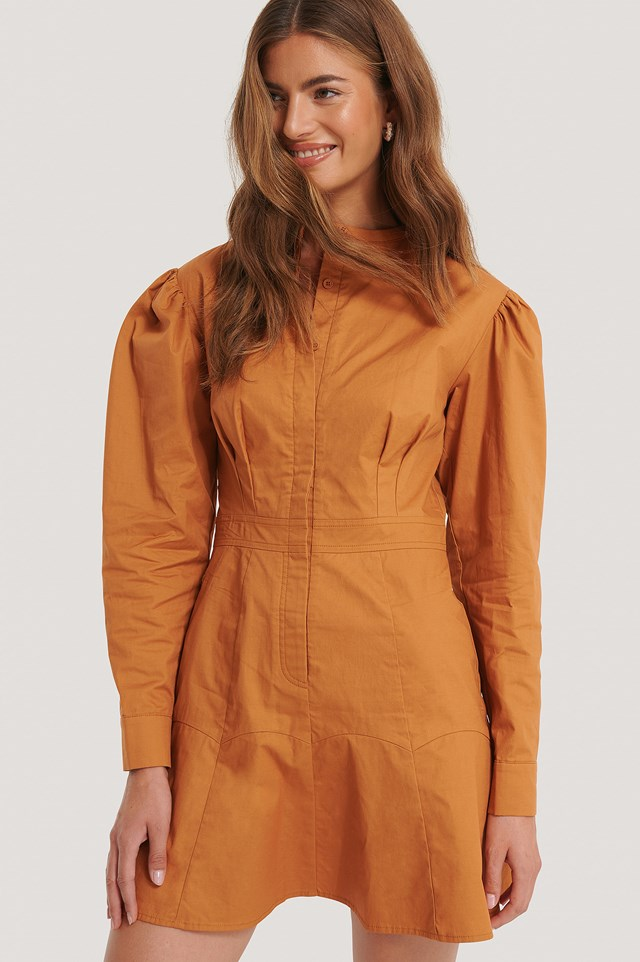 Mandarin Dress Rust