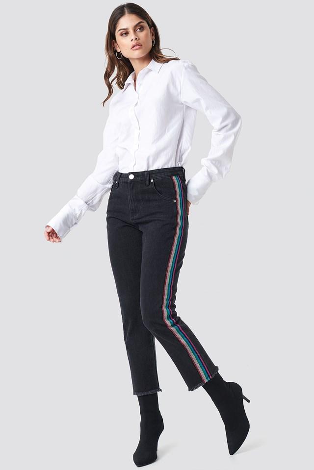 Straight Black Jeans Black