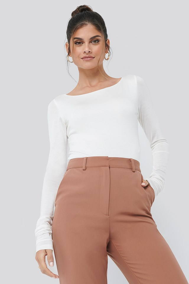 Long Sleeve Top Off White