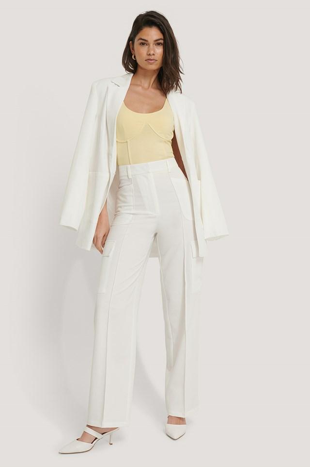 Cargo Pants White