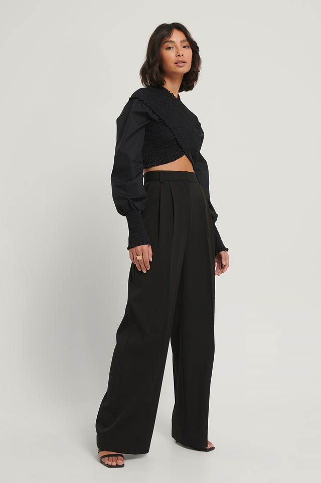 Gabardin Trousers Black