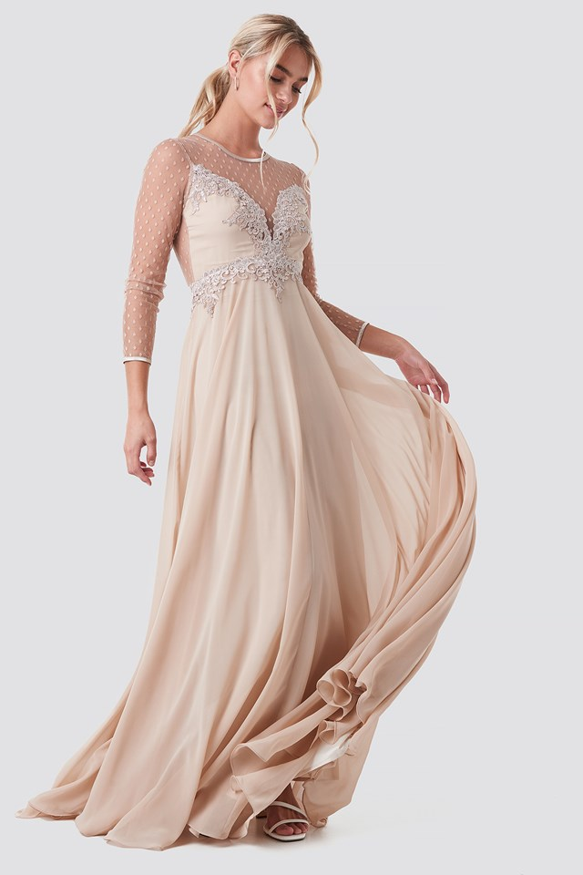 Alicia Dress Beige