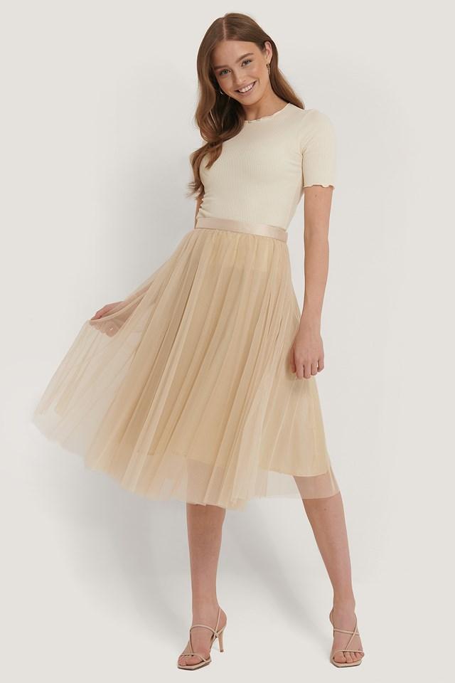 Flawless Skirt Beige