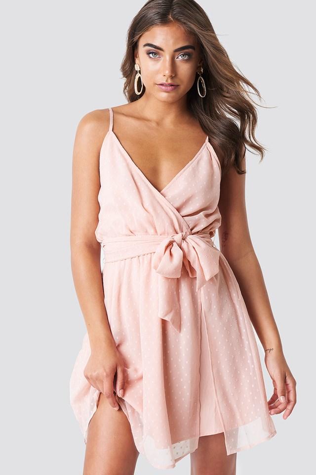 Chiffon Short Dress Light Rose Pink