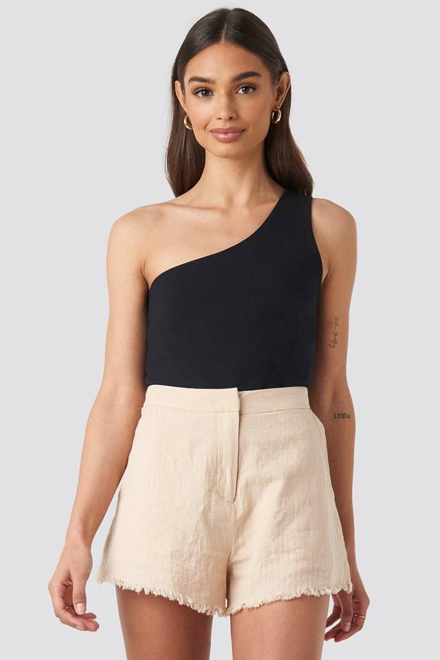 Linen Look Shorts Beige