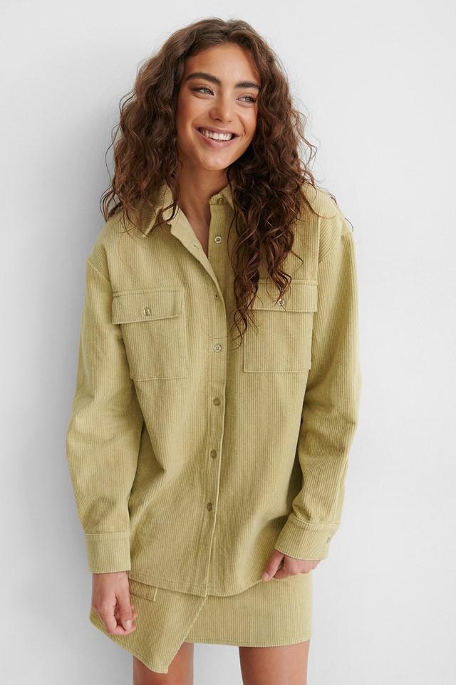 Corduroy Shirt Jacket Beige/Khaki