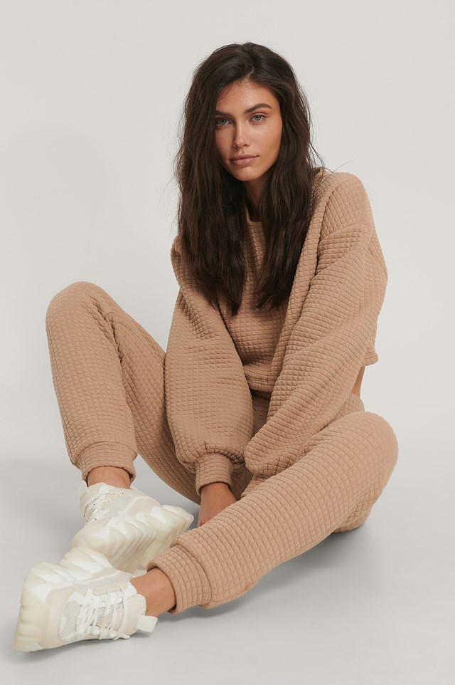 Structured Cropped Sweater Beige