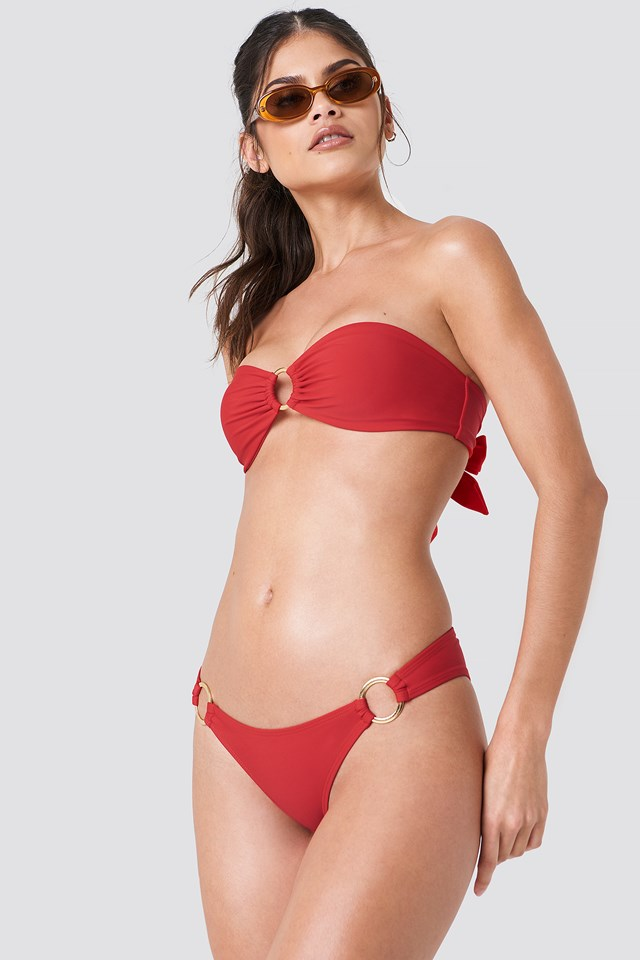 Circle Bikini Briefs Red