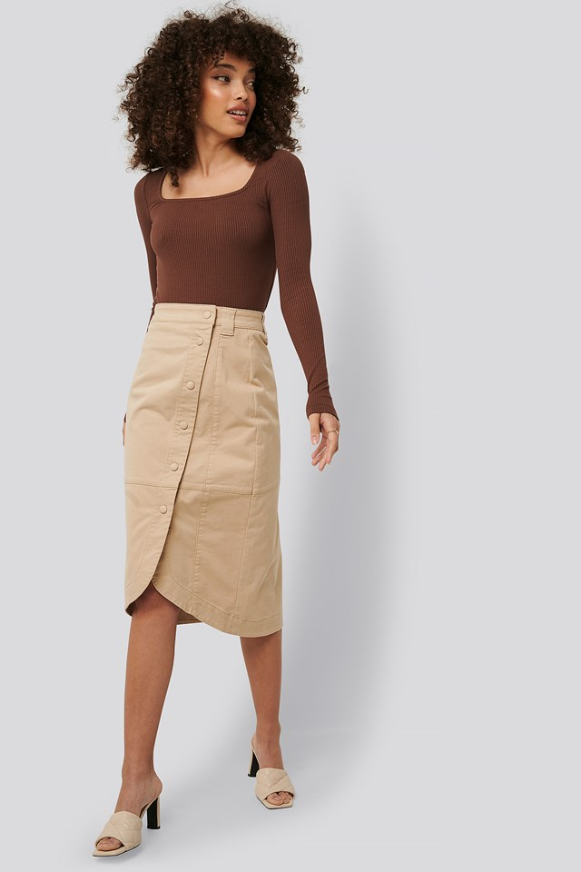 Wrap Skirt Beige