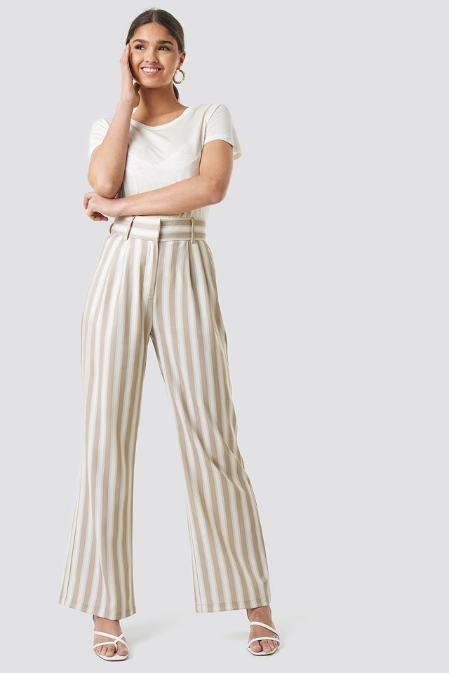 Tailored Striped Trousers Kae Sutherland x NA-KD
