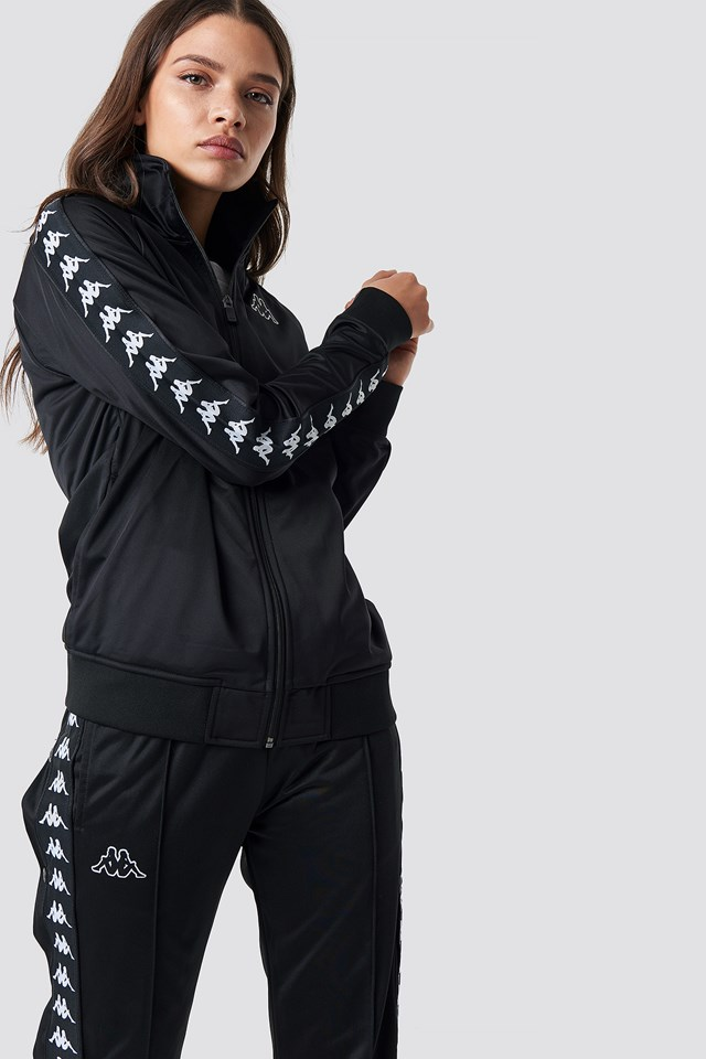 Anniston Track Jacket Black/White