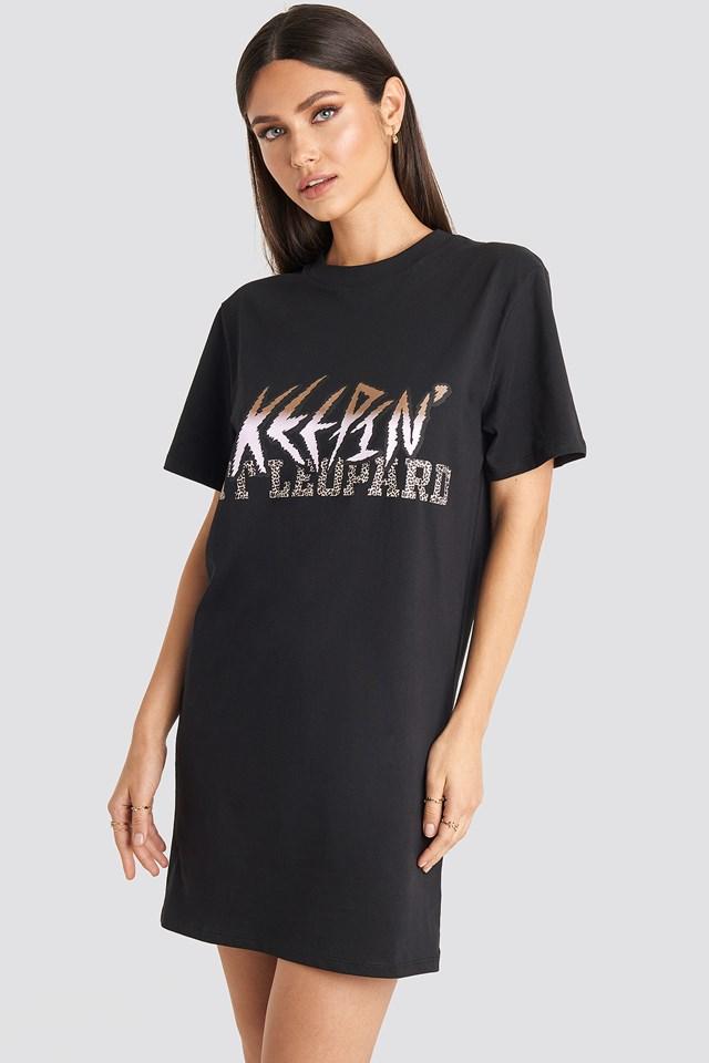 Keepin It T-shirt Dress Black