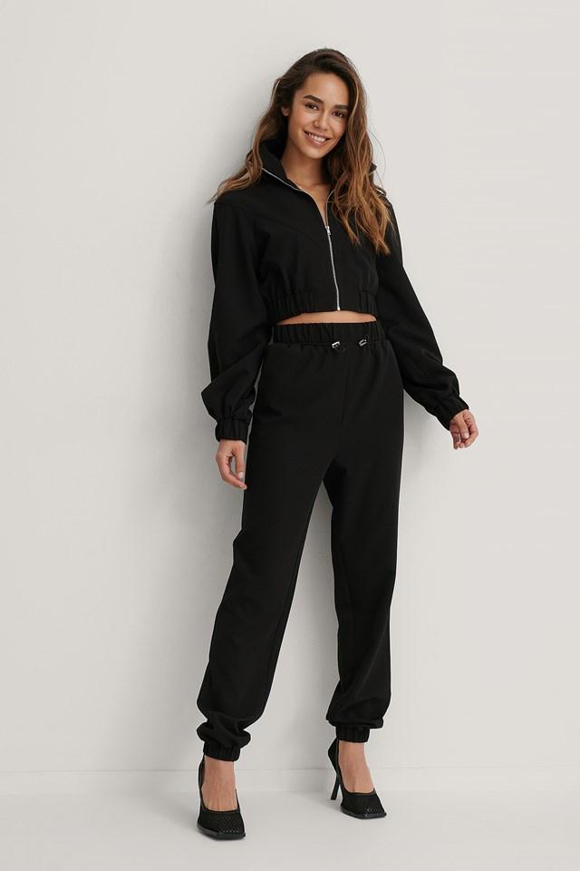 Drawstring Trousers Black
