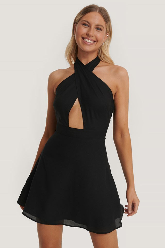 Wrap Around Dress Black