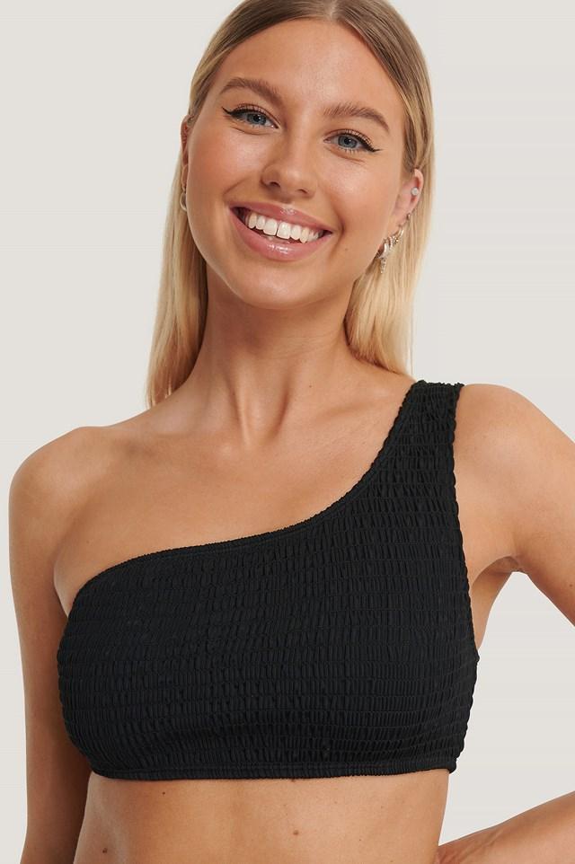 Asymmetrical Bikini Top Black